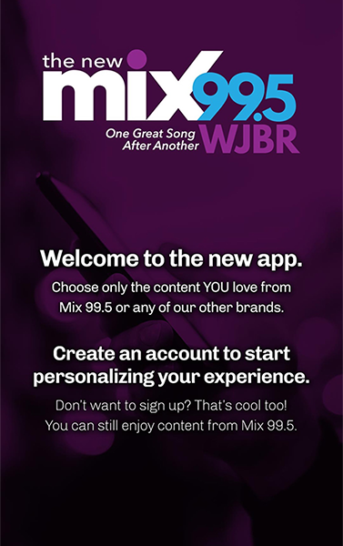The NEW & IMPROVED JBR App.  Get it now – IT'S FREE! We've just made some major improvements to the New Mix 99.5 WJBR mobile app.   It's easier for you to use & to customize to your liking. If you already have the JBR mobile App just UPDATE it. If you don't have the JBR mobile…