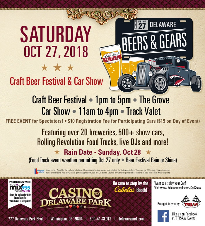 Delaware Park Beers Gears Fall - Wilmington car show